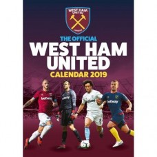 2019 A3 OFFICIAL WEST HAM UNITED CALENDAR