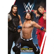 2019 A3 OFFICIAL WORLD WRESTLING MEN CALENDAR