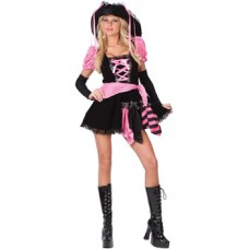 TEEN PINK PUNK PIRATE COSTUME