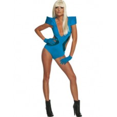 LADY GAGA BLUE SWIM SUITE
