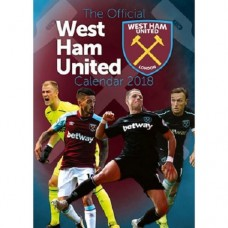 2018 A3 OFFICIAL LICENSED WEST HAM UNITED FC CALENDAR
