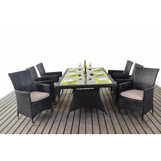 LUXE RECTANGLE DINING SET 6