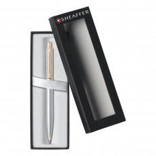 SHEAFFER SENTINEL BALLPOINT PEN GIFT BOXED CHROME - GOLD TRIM