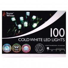 100 COLD WHITE LED MULTI FUNCTION CHRISTMAS LIGHTS