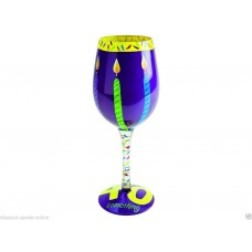 LOLITA 40 SOMETHING WINE GLASS
