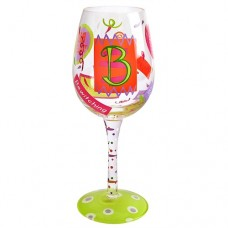 "LOLITA LETTER ""B"" WINE GLASS"