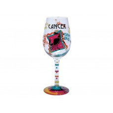 LOLITA CANCER ZODIAC WINE GLASS