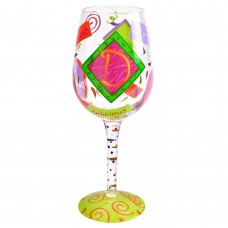 "LOLITA LETTER ""D"" WINE GLASS"