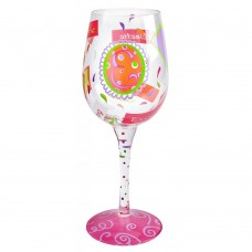 "LOLITA LETTER ""E"" WINE GLASS"