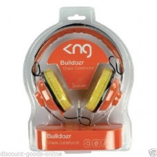 KNG BULLDOZER CHAOS CONSTRUCTOR ORANGE HEADPHONES