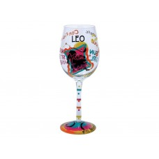LOLITA LEO ZODIAC WINE GLASS