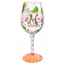 "LOLITA LETTER ""N"" WINE GLASS"