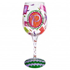 "LOLITA LETTER ""P"" WINE GLASS"