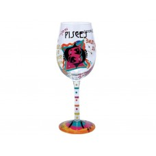 LOLITA PISCES ZODIAC WINE GLASS