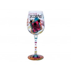 LOLITA SCORPIO ZODIAC WINE GLASS