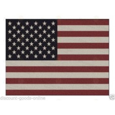 USA STARS AND STRIPES LODGE RUG 120CM X 170CM