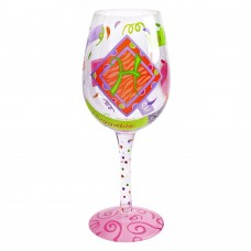"LOLITA LETTER ""H"" WINE GLASS"