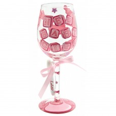 LOLITA NEW BABY GIRL 'PERSONALISE IT' WINE GLASS