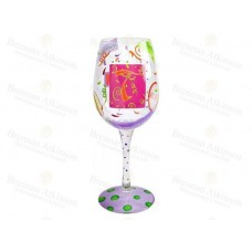 "LOLITA LETTER ""T"" WINE GLASS"