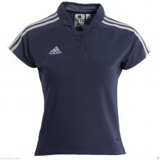 ADIDAS LADIES BLUE CLIMALITE POLO SHIRT