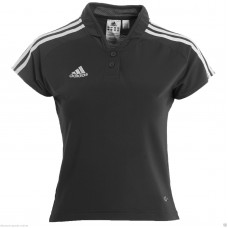 ADIDAS LADIES BLACK CLIMALITE POLO SHIRT