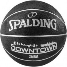 SPALDING SIZE 7 DOWNTOWN BLACK BASKETBALL