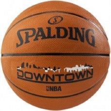 SPALDING SIZE 7 DOWNTOWN TAN BASKETBALL