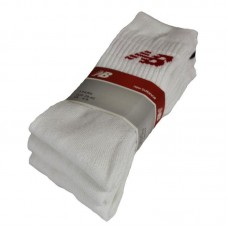 NEW BALANCE 3 PACK WHITE SPORTS SOCKS