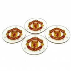 MANCHESTER UNITED 4 PACK GLASS COASTERS