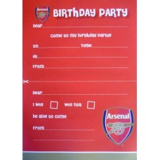 ARSENAL PARTY INVITES