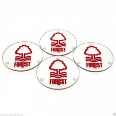 NOTTINGHAM FOREST 4 PACK GLASS COASTERS
