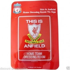 LIVERPOOL TIN HOME DRESSING ROOM SIGN