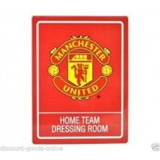 MANCHESTER UNITED TIN HOME DRESSING ROOM SIGN