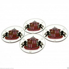 SUNDERLAND 4 PACK GLASS COASTERS