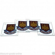 WEST HAM 4 PACK GLASS COASTERS