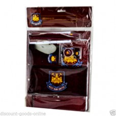 WEST HAM 10 PIECE STATIONERY SET