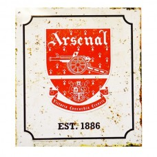 ARSENAL RETRO LOGO METAL SIGN