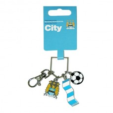 MANCHESTER CITY CHARM KEYRING