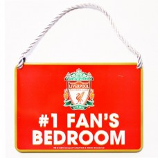 LIVERPOOL FC NO 1 FAN HOME BEDROOM SIGN PLAQUE DOOR