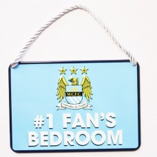 MANCHESTER CITY NO 1 FAN HOME BEDROOM SIGN PLAQUE DOOR