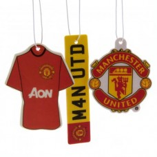 MANCHESTER UNITED 3 PACK AIR FRESHENER