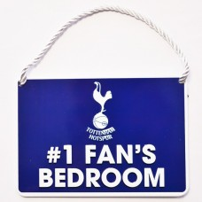 TOTTENHAM HOTSPURS NO 1 FAN HOME BEDROOM SIGN PLAQUE DOOR