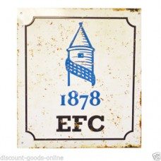 EVERTON RETRO LOGO METAL SIGN