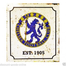 CHELSEA RETRO LOGO METAL SIGN