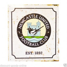 NEWCASTLE UNITED RETRO LOGO METAL SIGN