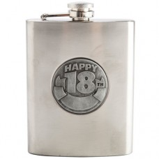 HAPPY BIRTHDAY 18TH HIP FLASK