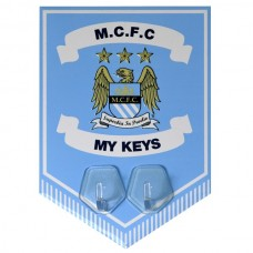 MANCHESTER CITY KEY HANGING HOOKS PENNANT