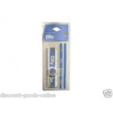 MANCHESTER CITY 5 PIECE CORE STATIONERY SET