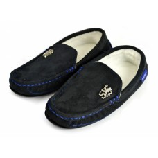 CHELSEA BLACK MOCCASIN SLIPPERS