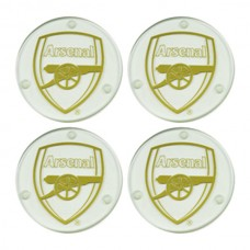 ARSENAL 4 PACK GLASS COASTERS